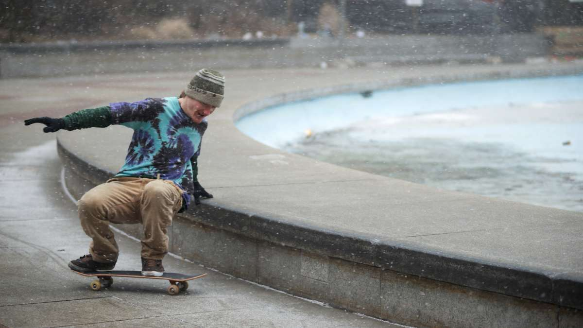 The willingness to come out in wind and snow shows the skaters' dedication, said James Sinclair.