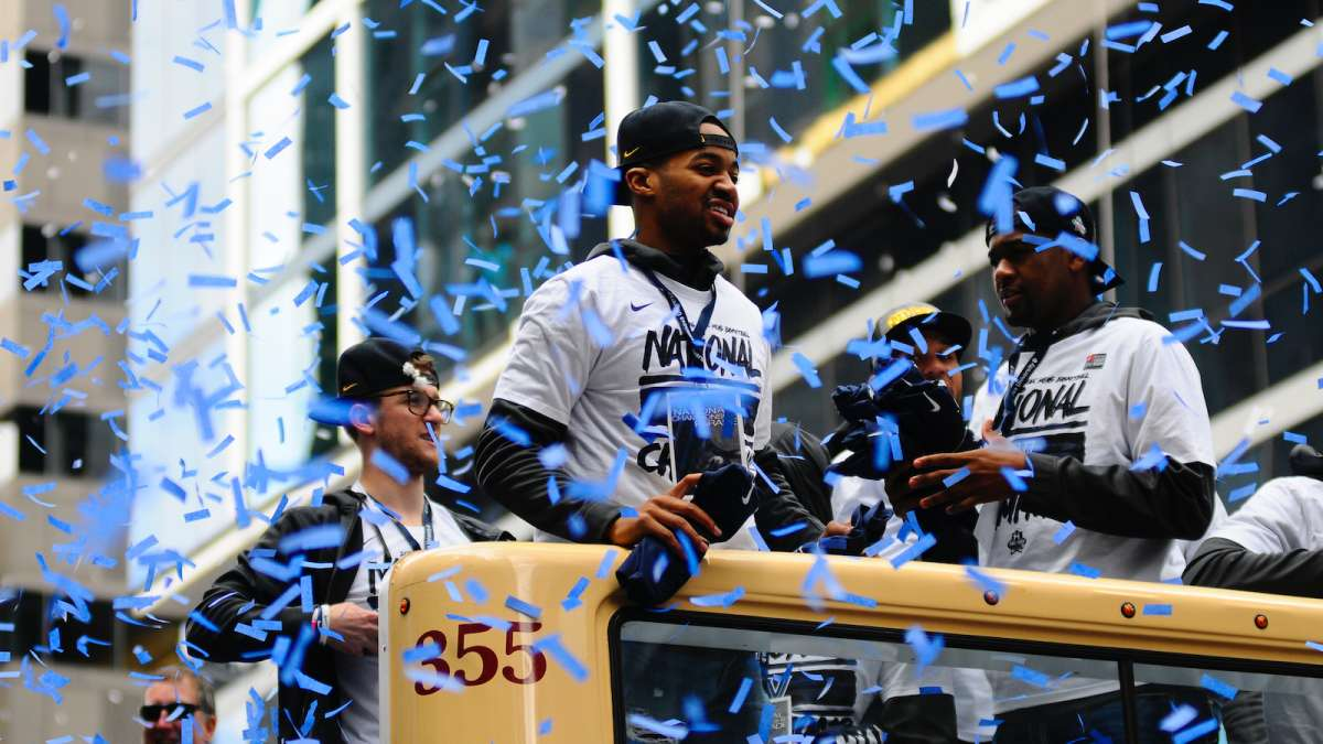 Villanova Wildcats NCAA Men's Basketball Champions are celebrated during a Center City Philadelphia parade on Friday.