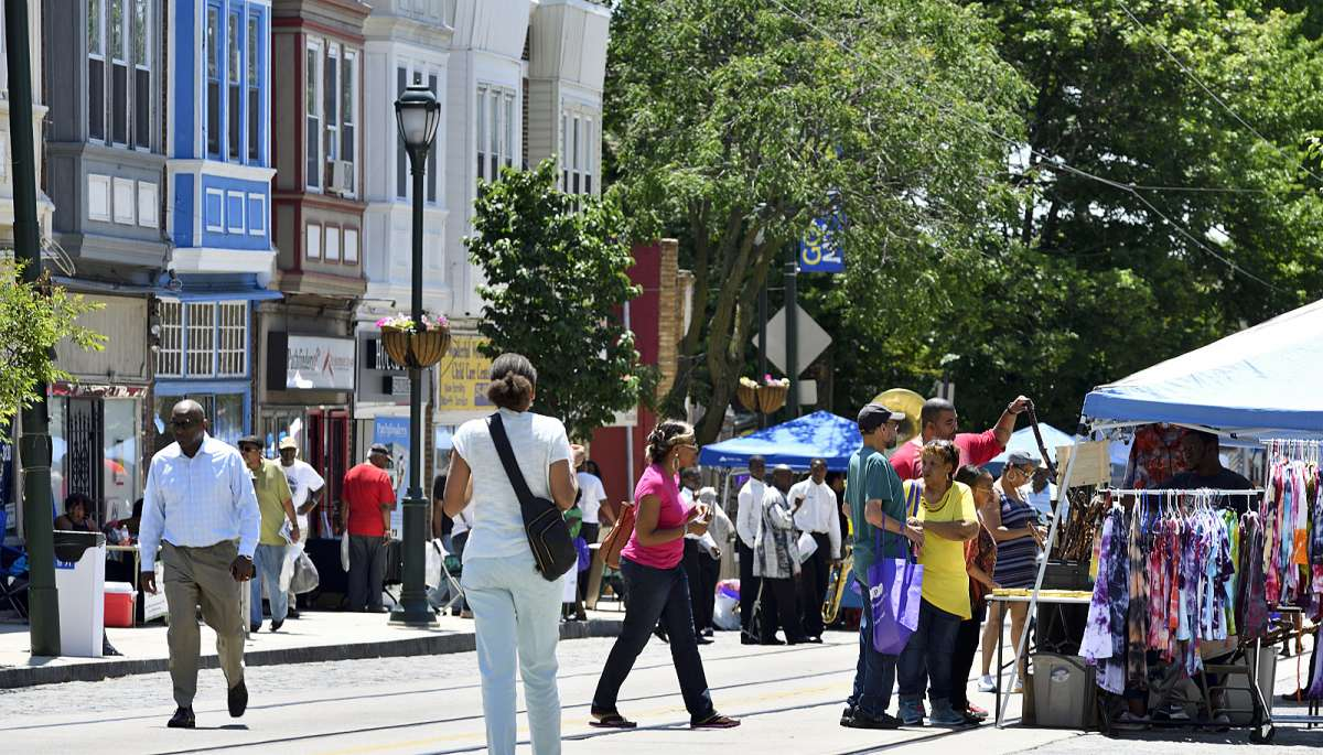 The Juneteenth Festival is held at the 6300 block of Germantown Avenue, on the border between Germantown and Mt Airy.