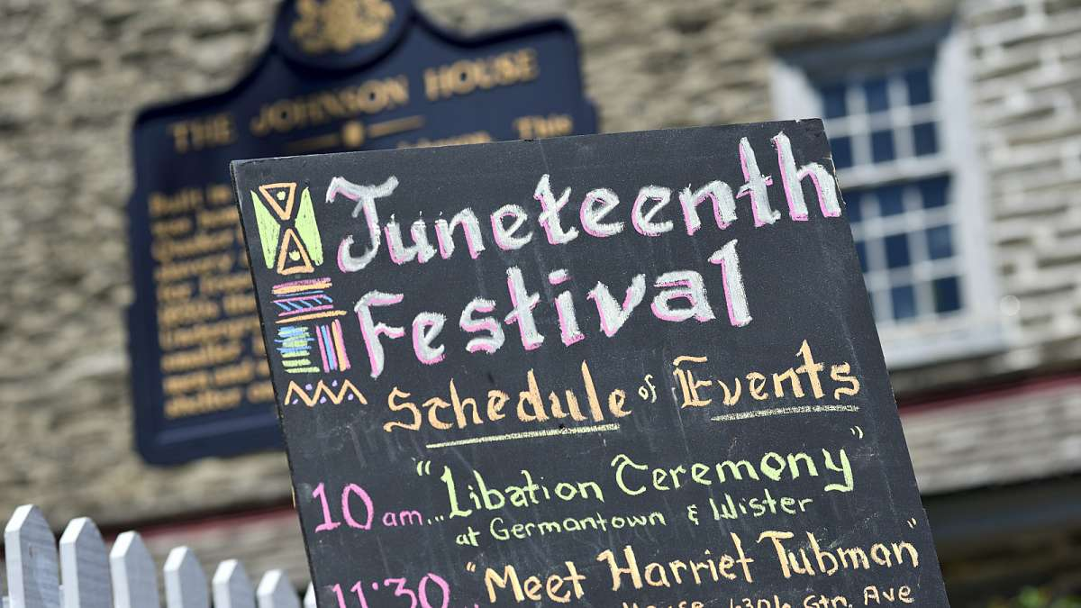 The Juneteenth Festival commemorates the day when slaves were freed in the United States of America.