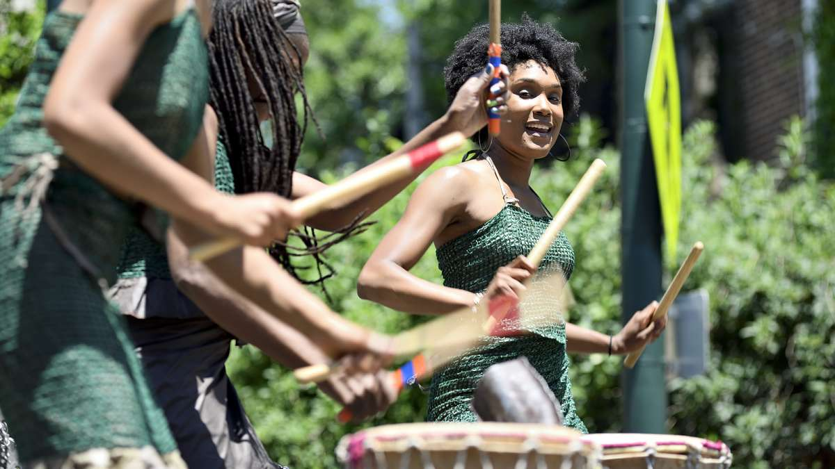 The Juneteenth Festival in Germantown also included a West African inspired drum performance.