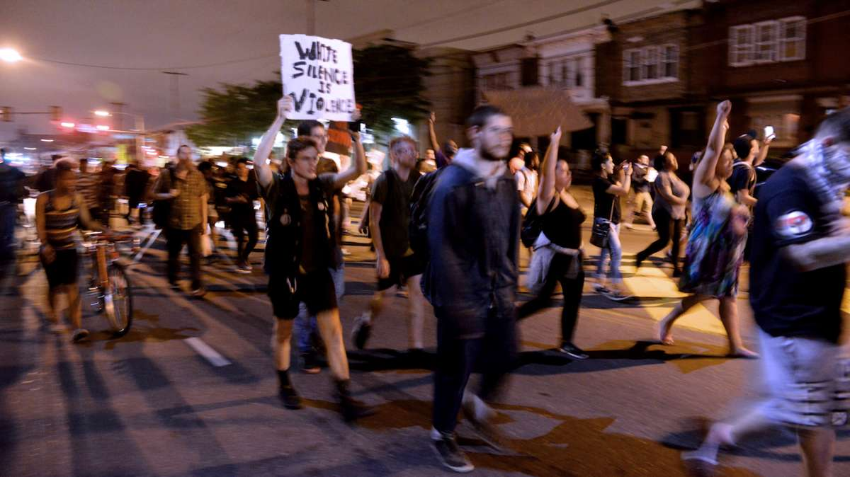 The protest in North Philadelphia on Saturday was peaceful, until a small group of British tourists began to intentionally provoke the police. One arrest was made and a British tourist received a citation for disorderly conduct.