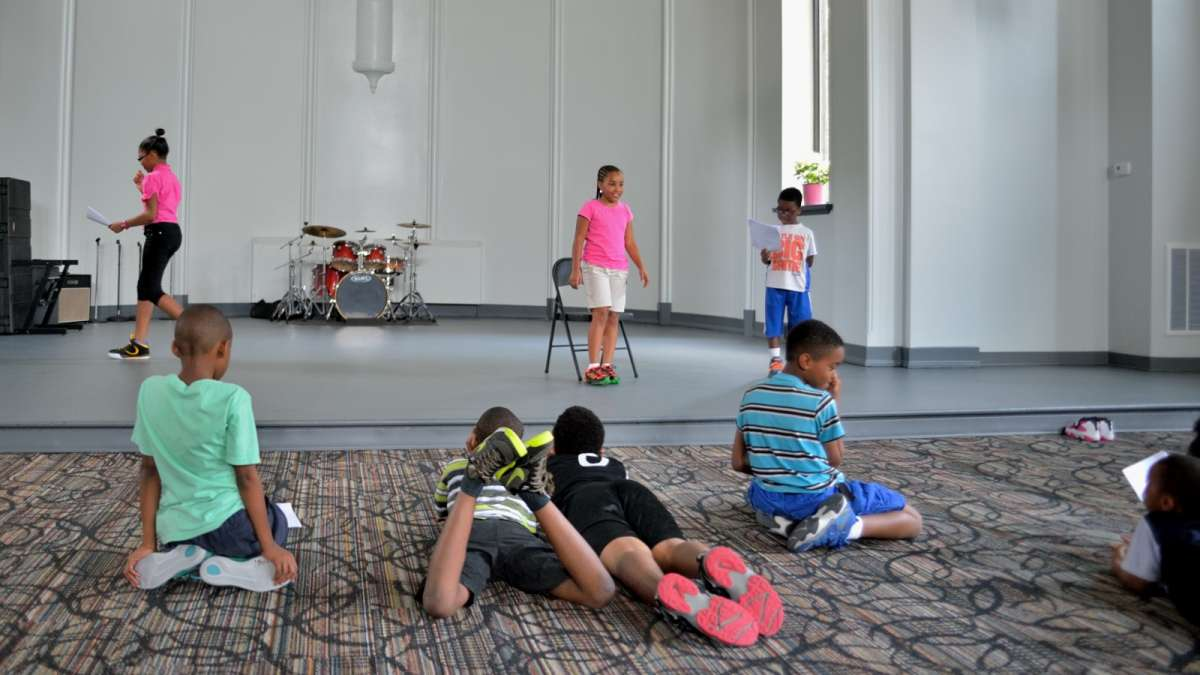 At drama class, some rehearse while others watch. (Bas Slabbers/for NewsWorks)