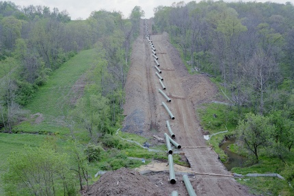 <p><p>A natural gas pipeline under construction in Franklin County. (Noah Addis/Marcellus Shale Documentry Project)</p></p>