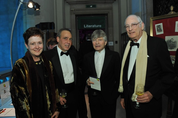 <p><p>Willo Carey (left), Vice President Sotheby's Selby Kiffer, Sr., Foundation board member Sheldon Bonovitz, Foundation board member and trustee Peter A. Benoliel (Photo courtesy of Kelly & Massa Photography)</p></p>