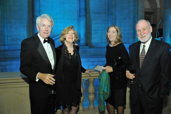 <p><p>Journalist James Steele and his wife Nancy (left), with Eliza and Tony Auth (Photo courtesy of Kelly & Massa Photography)</p></p>