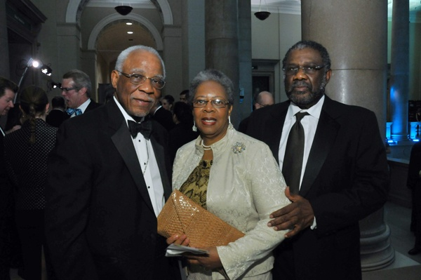 <p><p>Former Mayor W. Wilson Goode, Sr., trustee and Foundation board member (left), his wife, Velma, and Ralph Smith (Photo courtesy of Kelly & Massa Photography)</p></p>