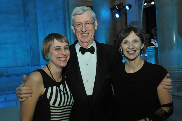 <p><p>Assistant chief of staff at the Free Library, Autumn McClintock, and chair of the Free Library board of trustees Bob Heim, with his wife, Eileen Kennedy Heim (Photo courtesy of Kelly & Massa Photography)</p></p>
