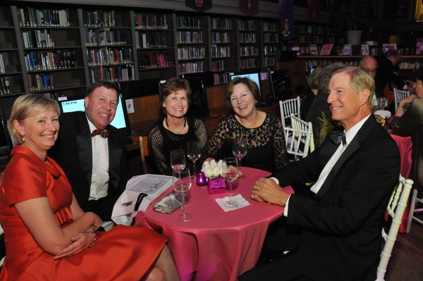 <p><p>(From left) Claudia and Dennis Willson, Christine Oliver, Foundation board member abd event cochair Barbara Sutherland, and Richard Oliver (Photo courtesy of Kelly & Massa Photography)</p></p>