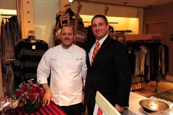 <p><p>Andy Kitko of Butcher and Singer (left) and Francis Lake from STARR Restaurants, who provided delicious samplings for the 230 guests (Photo courtesy of Nick D'Aquanno)</p></p>