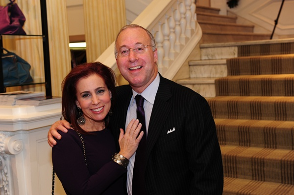 <p><p>Robyn Lewison, member of the Friends of Rittenhouse Square and Kent Gushner, President of Boyds Philadelphia (Photo courtesy of Nick D'Aquanno)</p></p>