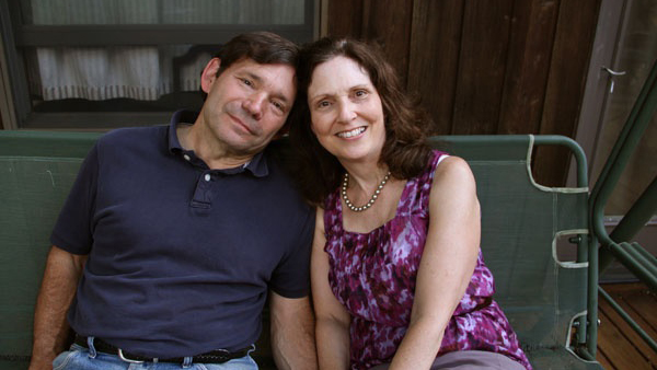 Diane Fehon with her husband, Bill, who suffers from frontotemporal lobar degeneration. (Emma Lee/for NewsWorks)