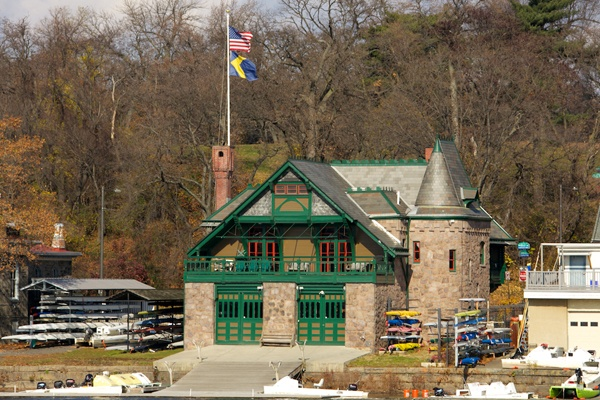 <p><p>The Undine Barge Club, founded in 1856 and located on the Schuylkill River, is another highly visible example of Frank Furness' work in Philadelphia. (Nathaniel Hamilton/for NewsWorks)</p></p>