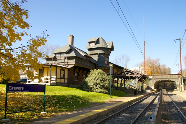 <p><p>Gravers Lane Station, located on the Chestnut Hill East Line, which once was part of the Philadelphia & Reading Railroad, was built in 1882, designed by Frank Furness. (Nathaniel Hamilton/for NewsWorks)</p></p>