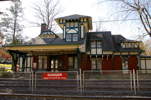 <p><p>Mount Airy Station, on the Chestnut Hill East Line, which once was part of the Philadelphia & Reading Railroad, was built in 1882, designed by Frank Furness. (Nathaniel Hamilton/for NewsWorks)</p></p>