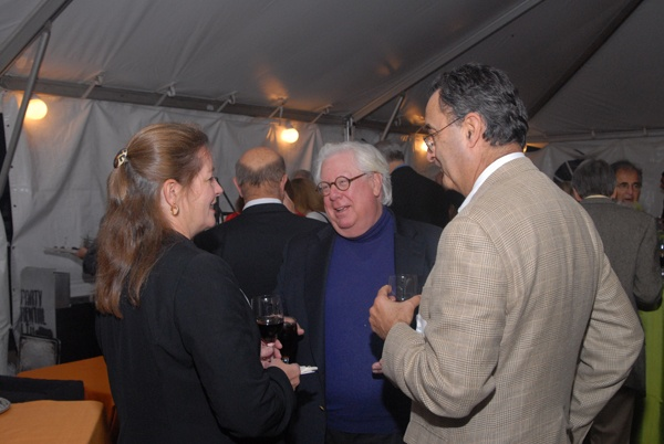 <p><p>Siobhan Reardon, president and director of the Free Library of Philadelphia (left), with Arthur Spector, and Robert Abramowitz (Photo courtesy of Steve Martin)</p></p>