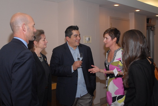 <p><p>Pepper Council co-chair Aaron Maass (left) with Siobhan Reardon, president and director of the Free Library of Philadelphia, Chef Jose Garces, Pepper Council co-chair Nadia Daniel, and Camila Hererra (Photo courtesy of Steve Martin)</p></p>