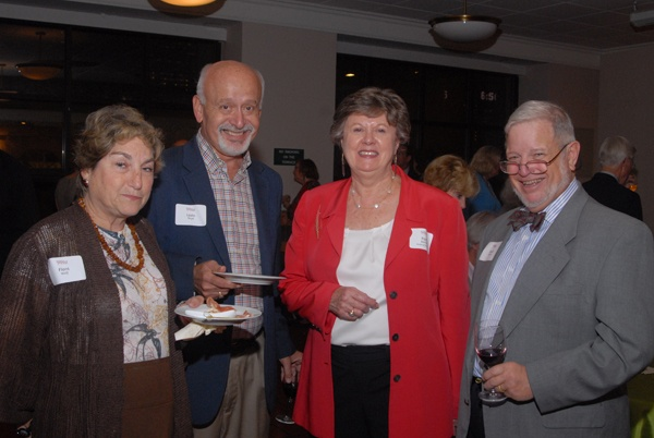 <p><p>Judge Flora Wolf of the Philadelphia Court of Common Pleas, Family Division (left) with Laslo Boyd, Free Library trustee and President Judge of the Philadelphia Court of Common Pleas Pamela Dembe, and David Dembe (Photo courtesy of Steve Martin)</p></p>