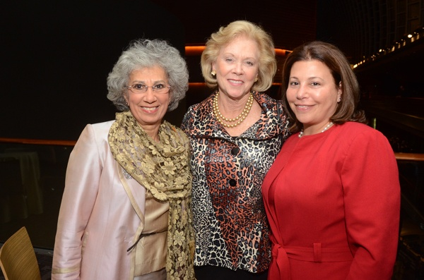 "<p><p>Penn Nursing School Dean Dr. Afaf I. Meleis  (left), Judge Marjorie ""Midge"" Rendell, and Melissa Heller (Photo courtesy of HughE Dillon)</p></p>"