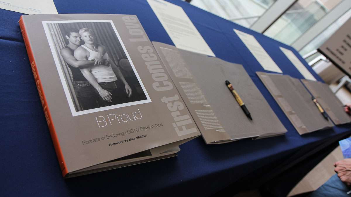 Personal stories are part of a National Constitution Center exhibit Speaking Out for Equality: The Constitution, Gay Rights and the Supreme Court, opening in early June. (Kimberly Paynter/WHYY)