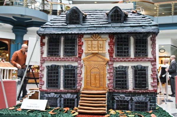 <p>A gingerbread replica of Mt. Pleasant by Frederic Larre of STARR Events. (Kimberly Paynter/for NewsWorks)</p>