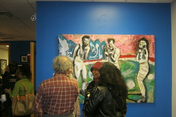 <p><p>An estimated 100 people turned out for the inaugural Germantown Artists Roundtable networking event on Sunday. (Alaina Mabaso/for NewsWorks)</p></p>