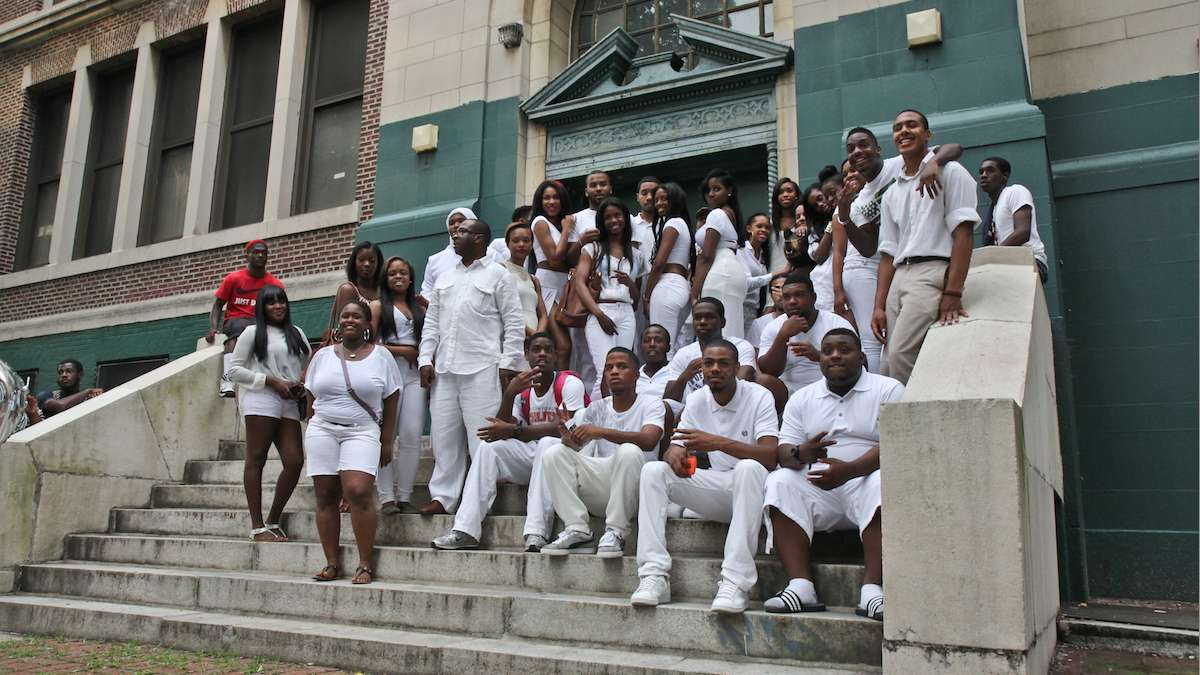 Members of the last-ever graduating class of Germantown High School in 2013. (Kimberly Paynter/WHYY)