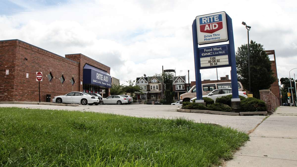 6223 Germantown Avenue was once a barbershop, but in 2015, is a Rite Aid. (Kimberly Paynter/WHYY)