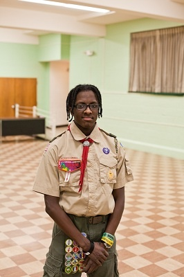 <p><p>Armond Smith is a member of Boy Scout Troop 358 which will march in President Obama's Inaugural Parade for the second time next week. (Brad Larrison/For NewsWorks)</p></p>