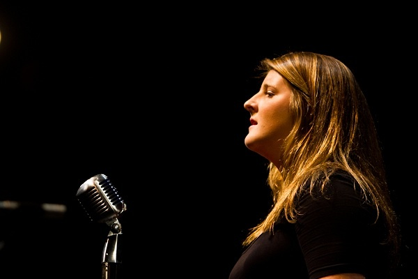 """<p><p>Emily Sullivan of Springside Chestnut Hill Academy performs """"Angel"""" by Sarah McLachlan. (Brad Larrison/for NewsWorks)</p></p>"""