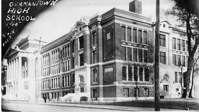 An image of Germantown High School taken in 1915, one year after it opened. (Courtesy of Germantown Historical Society)