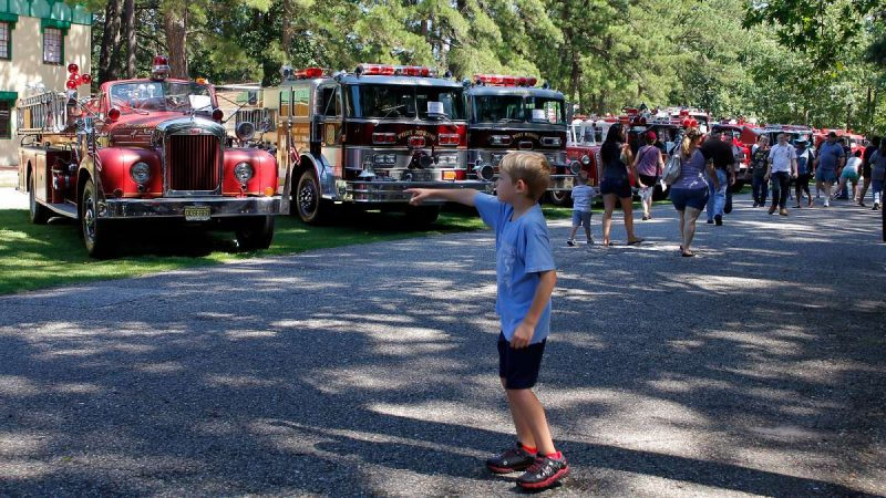 The annual Glasstown Fire Brigade Muster featured more than 80 vintage fire apparatus. (Jana Shea for Newsworks)