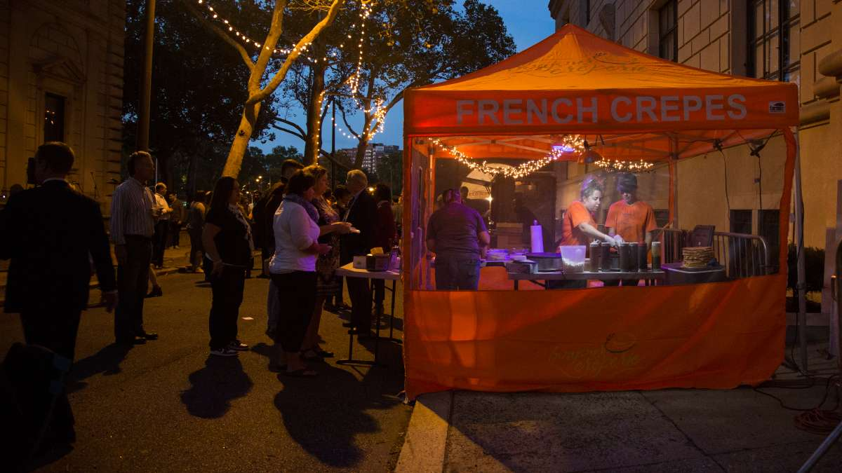 Bonjour Crepery from Bucks County made its 3rd apperence at the Fairmount Park Conservancy's Glow in the Park gathering. ''It's a really nice vibe and the people are into the event and what it stands for,'' said owner Rebecca Bisilliat.