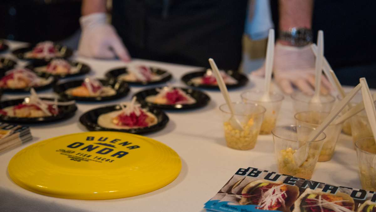 Food vendors from all over the city came out for Fairmount Park Conservancy's Glow in the Park gathering, including Buena Onda, serving their shrimp tacos and a corn dish.