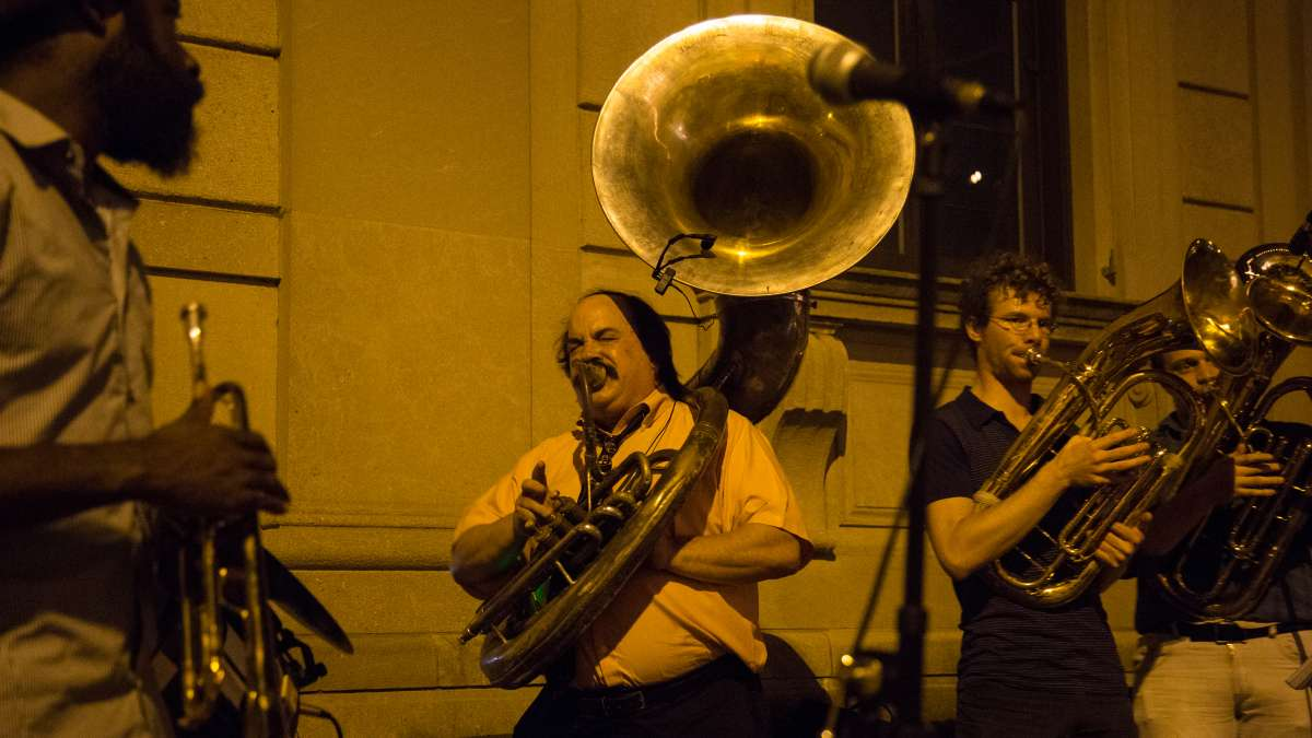 West Philadelphia Orchestra provided the perfect music for a balmy October night at Fairmount Park Conservancy's 5th annual Glow in the Park gathering.