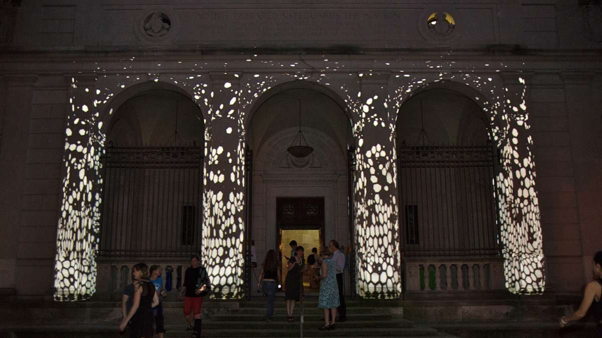The Fairmount Park Conservancy holds its annual fundraiser at the Palazzo on the Parkway, the former Boy Scout headquarters that fell into the city's hands because the scouts refused to admit gays.