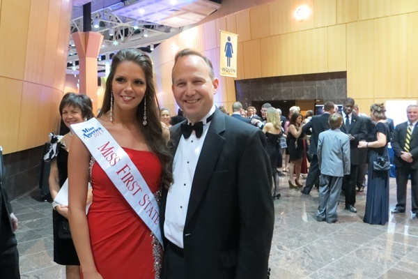 <p><p>Gov. Markell and Miss. First State (Shana O'Malley/NewsWorks) </p></p>