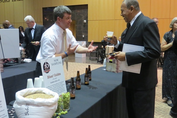 <p><p>Instead of a formal dinner, guests visited food and beverage stations featuring local restaurants and breweries (Shana O'Malley/NewsWorks) </p></p>