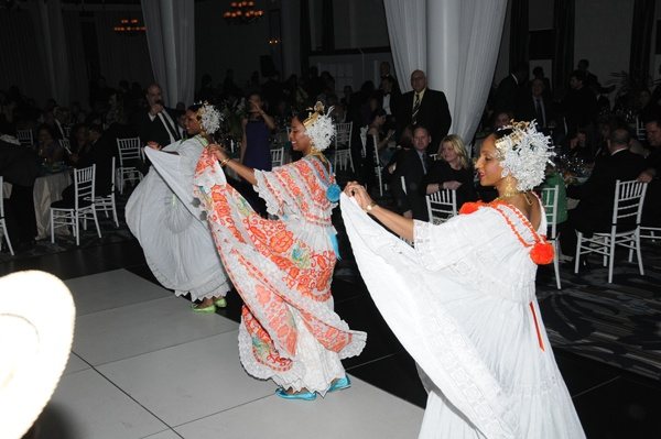 <p><p>Conjunto de Proyecciones Ritmos y Danzas de Panama performed in typical Panamanian folklore dresses or polleras in celebrating Panama's culture (Photo courtesy of George Feder)</p></p>