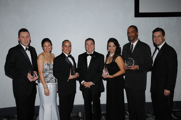 <p><p>Honorees (from left) Lou Rodriguez of Rodriguez Consulting, GPHCC Pres. Varsovia Fernandez, Ovidio Irizarry of UPS, Ambassador of Panama to the U.S. Mario Jaramillo, Nelly Jimenez-Arevalo, Charles Baltimore, and GPHCC Chairman Paul Lima (Photo courtesy of George Feder)</p></p>