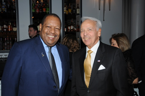 <p><p>Event sponsors James Nevels (left), board chair of the Hershey Company, and Charles G. Kopp, Chairman of the Philadelphia Regional Port Authority (Photo courtesy of George Feder)</p></p>