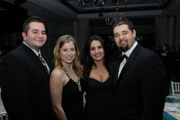 <p><p>Mr. and Mrs. Christian Hernandez (left) of presenting sponsor, State Farm, and Mr. and Mrs. Nicolas Jimenez of Comcast (Photo courtesy of George Feder)</p></p>