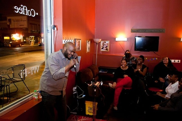 <p>&lt;p&gt;Lamont Maxx performs at the Wired Beans Cafe comedy night. (Brad Larrison/for NewsWorks)&lt;/p&gt;</p>