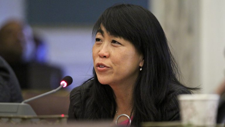 Philadelphia City Councilwoman Helen Gym opposed a measure meant to impose tough penalties for squatters, raising legal concerns with the bill. (Emma Lee/WHYY)