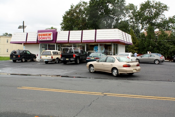 The Dunkin Donuts on the White Horse Pike in Oaklyn, New Jersey was a busy place this morning following Hurricane Irene