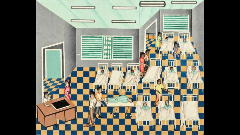 'Hospital' by Luders Dormus is among the works of Haitian art to be auctioned. (Material Culture)