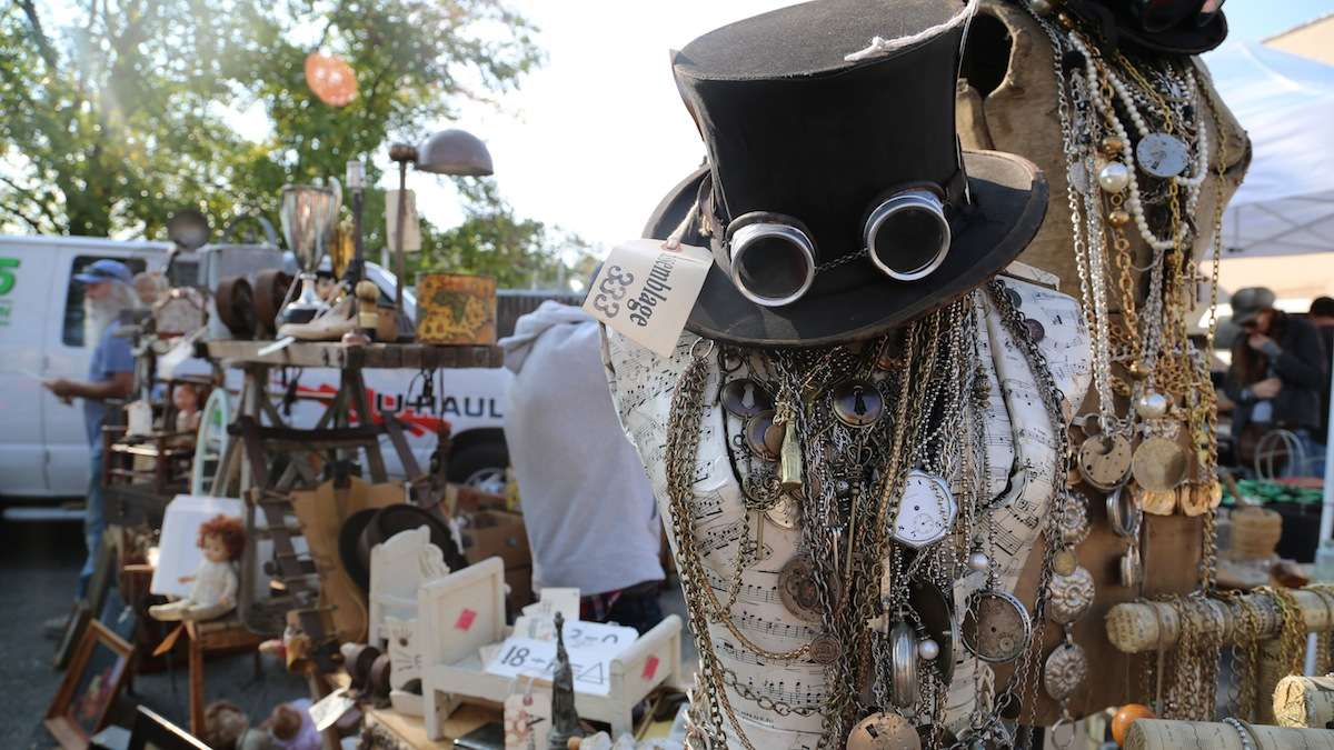 This year's flea market selection had some one-of-a-kind eclectic collection of items (Natavan Werbock/for NewsWorks)