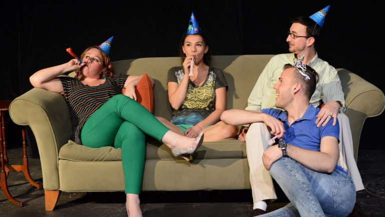 Jessica Snow, Rachel Berkman, Andy Shaw, and Michael E. Manley in 'Harbor' - playing in Quince Productions' GayFest!  (photo courtesy of John Donges)