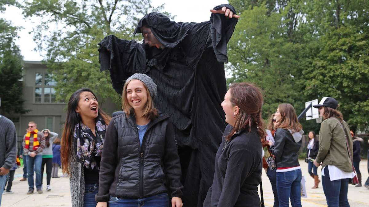 Dementor, a dark creature and one of the foulest to inhabit the world at the Jenks Academy (Natavan Werbock/for NewsWorks)