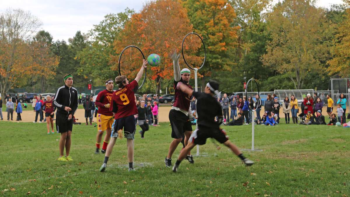The 6th Annual Quidditch Tournament at the Chestnut HIll College was a day long event (Natavan Werbock/for NewsWorks)